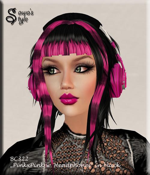 BC322-pinkxpink-black-Headphones