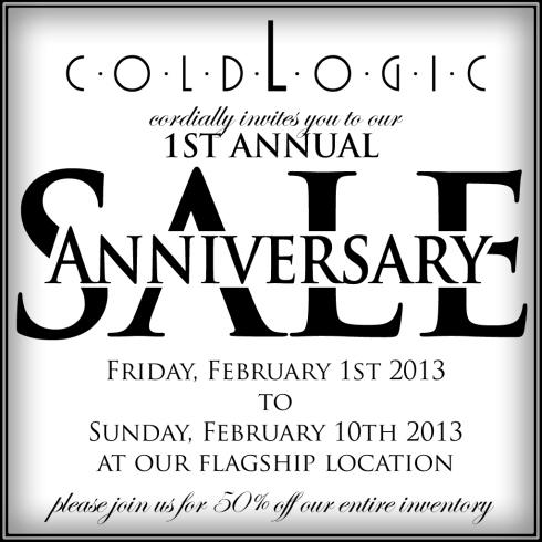 coldlogic-1stannualanniversarysale